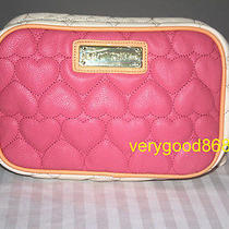 Betsey Johnson Be Mine Camera Pink Crossbody Handbag Bag Photo