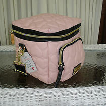 Betsey Johnson Be Mine Cargo Lunch Tote Insulated Bag Blush Pink Black Nwt Photo