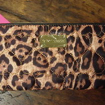 Betsey Johnson Be Mine Leopard Cheetah Zip Around Wallet Photo