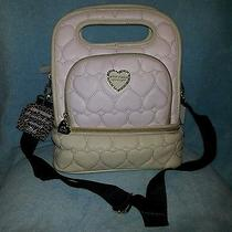 Betsey Johnson Be Mine Top Handle Quilted Hearts Lunch Tote Blush Pink New W/tag Photo