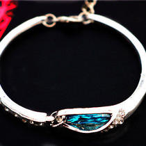 Betsey Johnson Beautiful Women's Fashion Jewelry Blue Crystal Cute Bracelet Photo