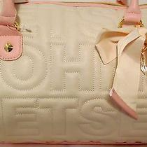 Betsey Johnson Betsey Logo Satchel Bone Blush Nwt 98 Photo