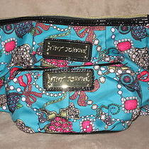 Betsey Johnson Betseyville Junk in the Trunk Teal 2 Pc Set Cases Bag Purse Nwt Photo