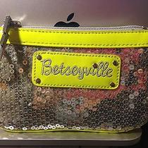 Betsey Johnson Betseyville-Silver Sequins Citron Wristlet  Photo