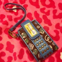 Betsey Johnson Betseyville Wristlet Camera Case Cell Phone Case Wallet Photo