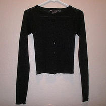 Betsey Johnson Black Button Down Womans  Sweater   One Size Fits All Photo