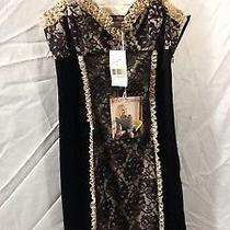 Betsey Johnson Black Satin & Lace  Lingerie New W/ Tags Photo
