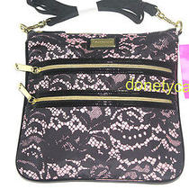 Betsey Johnson Blush 2 Zip Crossbody Bag Handbag Photo