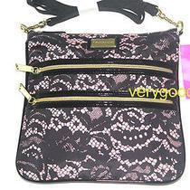 Betsey Johnson Blush 2 Zip Crossbody Bag Handbag Photo