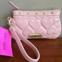 Betsey Johnson Blush Be Mine Heart Wristlet Nwt Photo