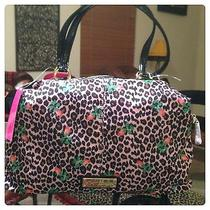 Betsey Johnson Blush Cheetah Print Satchel Purse Photo