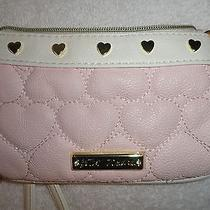 Betsey Johnson Blush Cream  Be Mine Wristlet New  Photo
