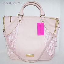 Betsey Johnson Blush Pink Frilled Out Large Tote Ruffle Shopper Handbag 128 Photo