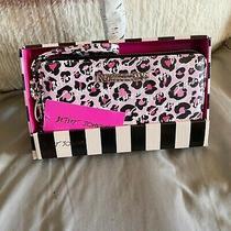 Betsey Johnson Blush Pink Leopard Zip Around Wallet Wristlet Photo