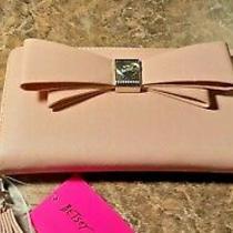 Betsey Johnson Blush Zia Large Zip Around Wallet/ Wristlet/ Phone Clutch-Nwt Photo