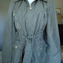 Betsey Johnson Brown Rain Jacket Size Xs (4) Women Vguc Photo