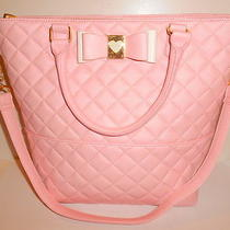Betsey Johnson Buns Be My Honey Pink Blush Quilted N/s Tote Shoulder Bag New Nwt Photo