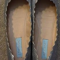 Betsey Johnson Cake Women Us 8.5 Silver Flats Pre Owned Photo