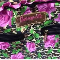 Betsey Johnson Carry on Luggage Overnighter Purple Black Rose Original Ruffle Photo