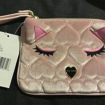 Betsey Johnson Cat Wristlet Pouch Blush Mult Photo