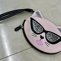 Betsey Johnson Cool Cat Pink Blush With Glittery Sunglasses Purse Photo