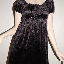 Betsey Johnson Croc Print Baby Doll Tunic Top Dress Sz S Black Dk Gray Velour  Photo