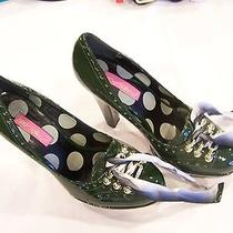 Betsey Johnson Dark Green Stiletto Heels Size 8-1/2 M Photo