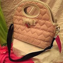 Betsey Johnson Dome Insulated Lunch Tote Blush White Bag Nwt Purse Hand Bag Case Photo