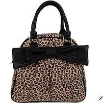 Betsey Johnson Dome Satchel Cheetah Natural   Nwt 98 Photo