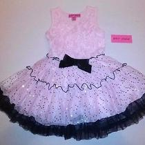 Betsey Johnson Dress Girls Toddlers 4t Blushing Bride Pink Roses New With Tags Photo