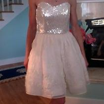 Betsey Johnson Dress in Blush With Sequin Bodice and Flower Skirt Size 6 Photo