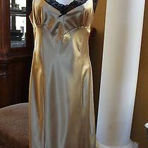 Betsey Johnson Dress  Lace Gold Size L Photo