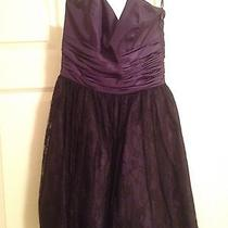 Betsey Johnson Dress Size 2 Black Lace Purple Sweatheart Tulle  Photo