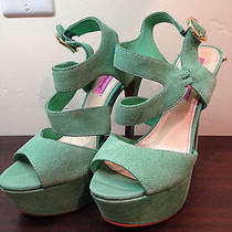 Betsey Johnson Endall Mint Green Sandal Sz. 6 79 Nwob Photo