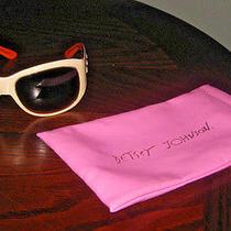 Betsey Johnson Fabulous Vanilla Blush Color Crystal Trim Sunglasses Photo