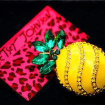 Betsey Johnson Fashion Jewelry Female Enamel Crystal Pineapple Cute Brooch Pin Photo