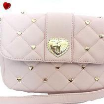 Betsey Johnson   Flap Body Heartbreaker Messenger  Handbag  Purses Blush Photo