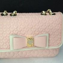 Betsey Johnson Flapover Shoulder Bag Be My Honey Buns Blush Bj29515p Photo