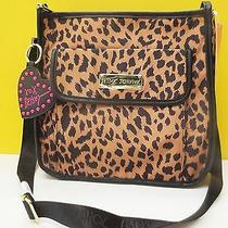 Betsey Johnson Front Pocket Spotted Natural Crossbody Bag Nwt Photo
