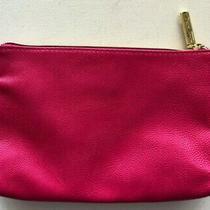 Betsey Johnson Fuschia Pink Clutch Cosmetic Bag Zip Pouch  Photo