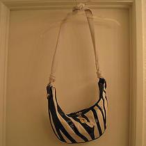 Betsey Johnson Go-Go Zebra Leather Handbag Photo