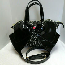 Betsey Johnson Handbag Purse With Bow Photo