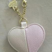 Betsey Johnson Hang Tag Handbag Purse Blush Pink Bone on Chain Charm Key Chain Photo