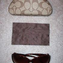 Betsey Johnson Heart Diva Rhinestone Sunglasses Shades W/coach Case & Cloth Photo