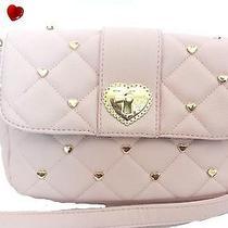 Betsey Johnson  Heartbreaker  Messenger Bag Shoulder Bag Purse Blush Reduced Photo