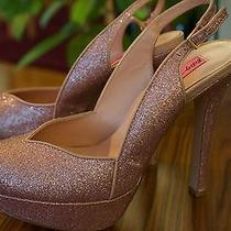 Betsey Johnson Heels Dizzyy - Blush Glitter With Box Photo