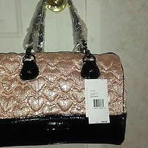 Betsey Johnson High Sequency Blush Satchel Photo