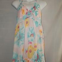 Betsey Johnson Intimates Floral Shortie Nightgown Baby Doll Halter Top Size M Photo