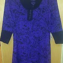 Betsey Johnson Intimates Purple/black Babydoll Nightie Size L Nwt Photo