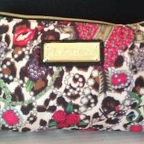 Betsey Johnson Junk in the Trunk Cylinder Cheetah Make-Up Cosmetic Bag Nwt Photo